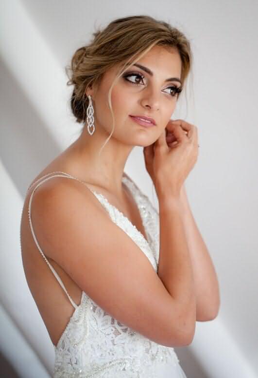 Beautiful wedding makeup and hair