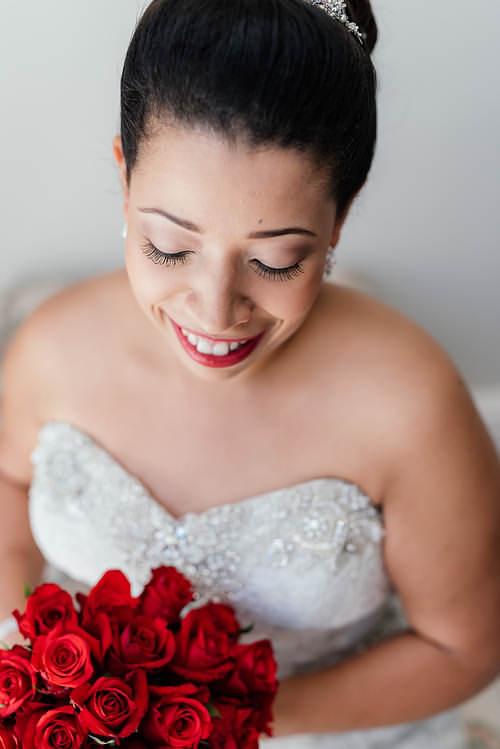 Red Lipstick Bride makeup